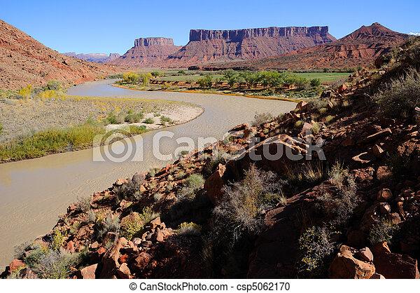 Meander in Colorado River near Desert Resort - csp5062170
