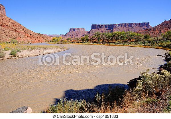 Meander in Colorado River near Desert Resort - csp4851883