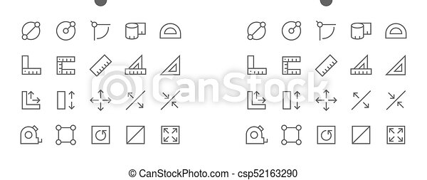 Measure Pixel Perfect Well-crafted Vector Thin Line Icons 48x48 Ready for 24x24 Grid for Web Graphics and Apps with Editable Stroke. Simple Minimal Pictogram - csp52163290