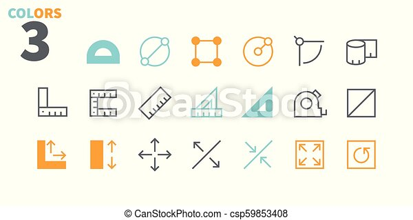 Measure Pixel Perfect Well-crafted Vector Thin Line Icons 48x48 Ready for 24x24 Grid for Web Graphics and Apps with Editable Stroke. Simple Minimal Pictogram Part 1 - csp59853408
