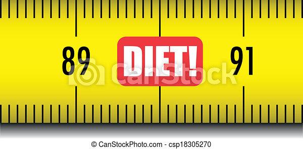 measure tape diet - csp18305270