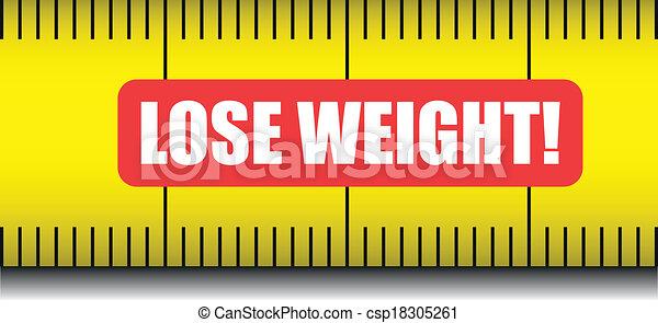 measure tape lose weight - csp18305261