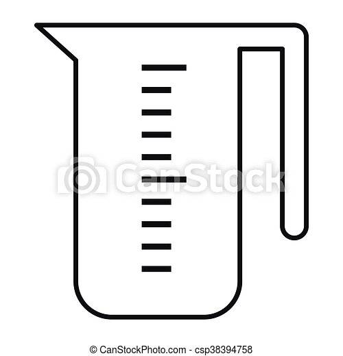 measuring cup icon outline style measuring cup icon in clipart rh canstockphoto com