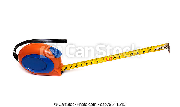 Measuring tape isolated on a white background - csp79511545