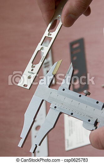 Measuring with callipers - csp0625783
