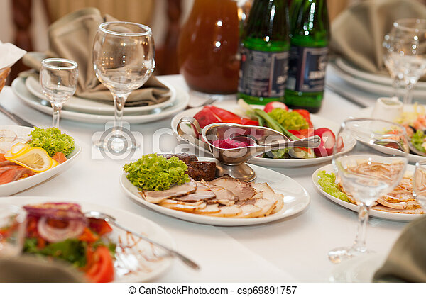 Meat on a plate - csp69891757