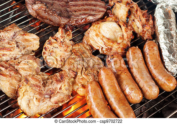 Meat on the barbecue grill - csp9702722
