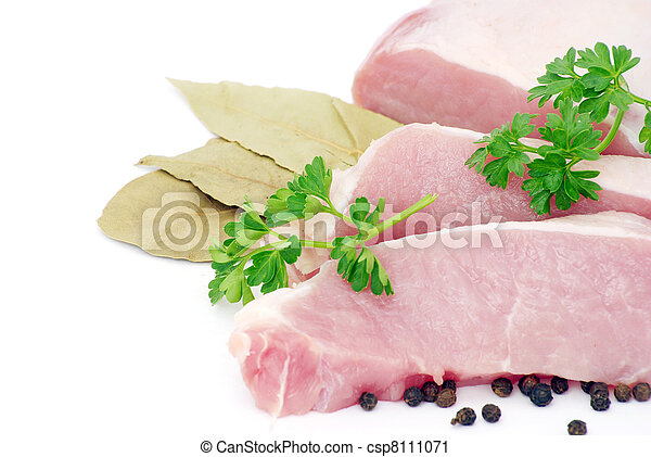 meat with parsley - csp8111071