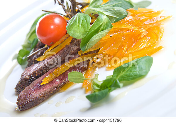 meat with vegetables - csp4151796