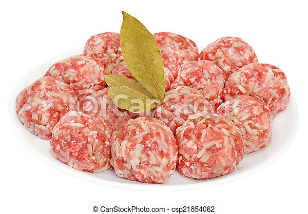 Meatballs on a plate - csp21854062