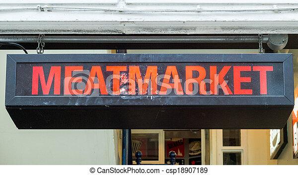 Meatmarket Sign - csp18907189