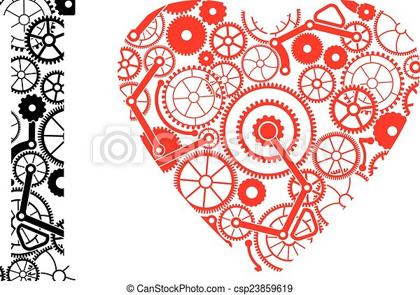 Amor mecánico - csp23859619
