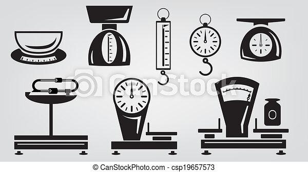 Escamas mecánicas de cocina - csp19657573