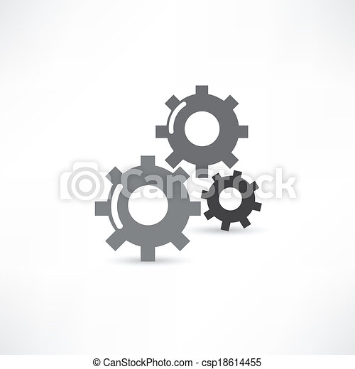 mecánico, icono - csp18614455