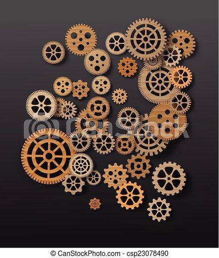 Mecanismo de marcha atrás. Ilustración de vectores - csp23078490