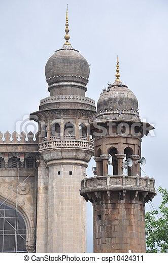 Mecca Masjid in Hyderabad - csp10424311
