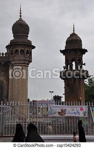 Mecca Masjid in Hyderabad - csp10424293