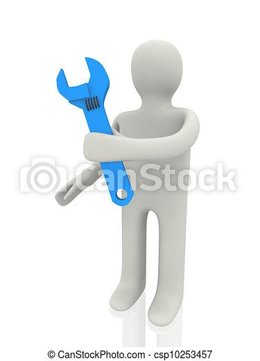 mechanic 3d person - csp10253457