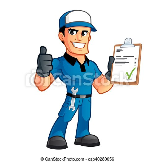 sympathetic car mechanic he has a spanner in his belt clipart rh canstockphoto co uk mechanic wrench clip art mechanic clip art free