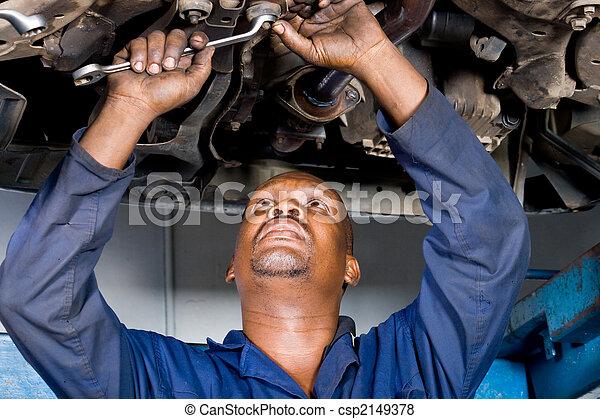 mechanic repairing car - csp2149378