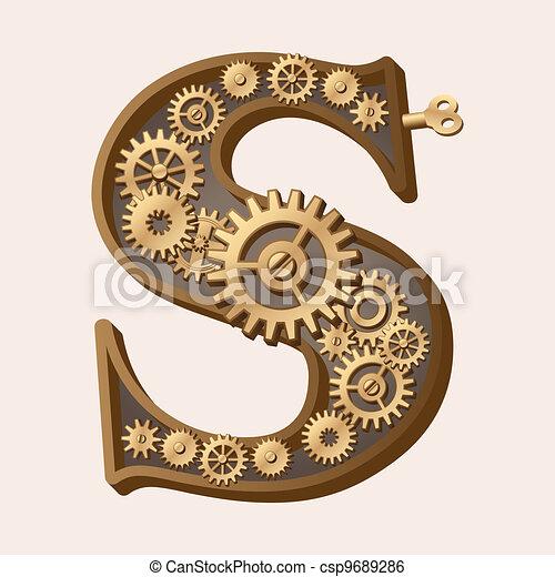 Mechanical alphabet - csp9689286