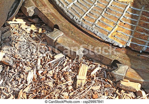 Mechanical Axe cutting wheel - csp29997841