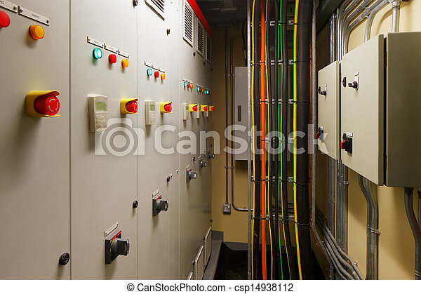Mechanical electrical control room - csp14938112