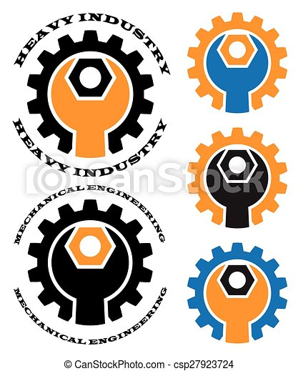 mechanical engineering stylized vector illustration on the rh canstockphoto com mechanical logo pencils mechanical logic toy