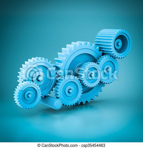 mechanical gears 3d model - csp35454463