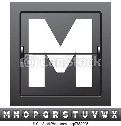 mechanical scoreboard alphabet - csp7859095