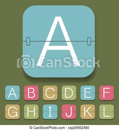 Mechanical Scoreboard Alphabet - csp20652480