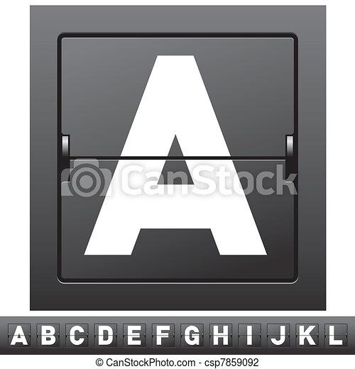 mechanical scoreboard alphabet - csp7859092