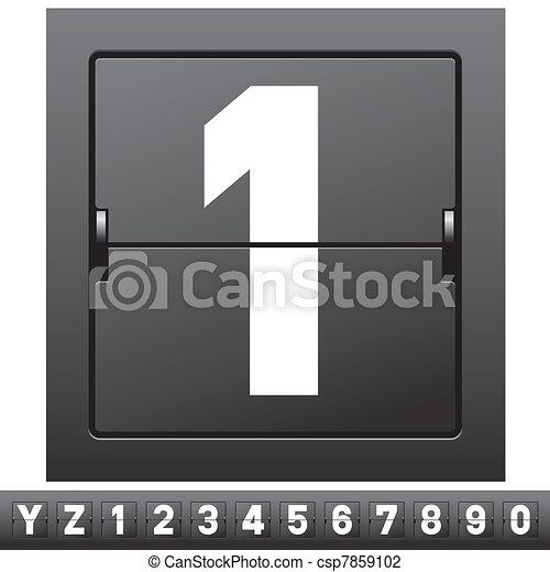 mechanical scoreboard alphabet - csp7859102