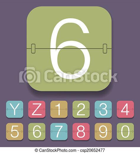 Mechanical Scoreboard Alphabet - csp20652477