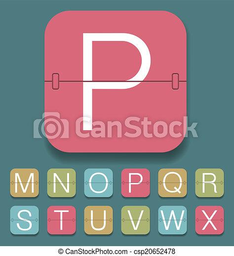 Mechanical Scoreboard Alphabet - csp20652478