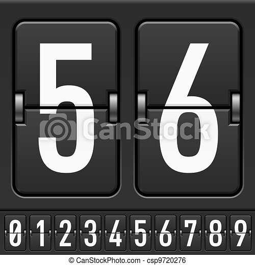 Mechanical Scoreboard Numbers - csp9720276