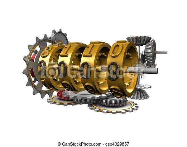 Mechanical year counter - csp4029857