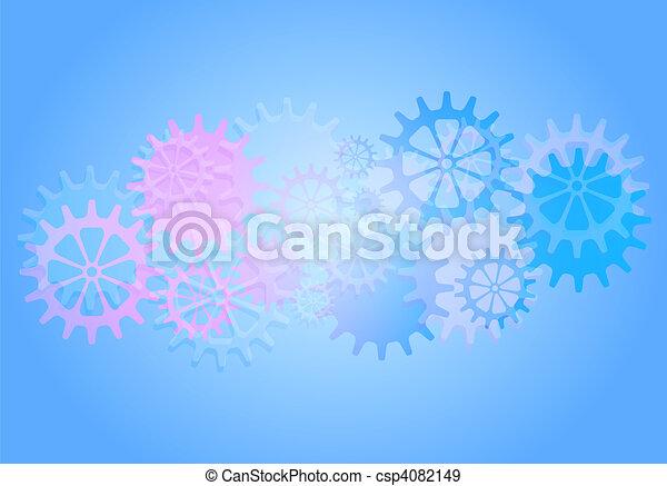 mechaniczny, wektor, mechanizmy, tło, cogs. - csp4082149