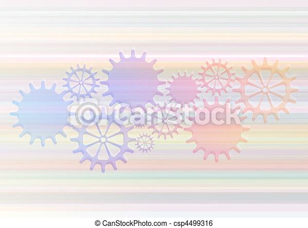 mechaniczny, wektor, mechanizmy, tło, cogs. - csp4499316
