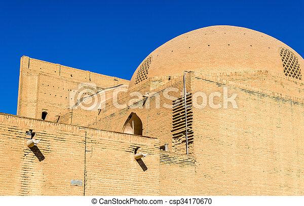 mecset, közfal, irán, shah, isfahan - csp34170670