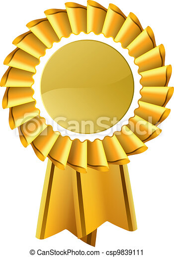 medaglia, oro, premio, rosetta - csp9839111