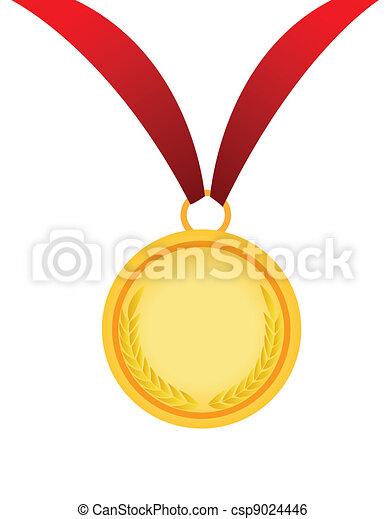 medaille, goud - csp9024446