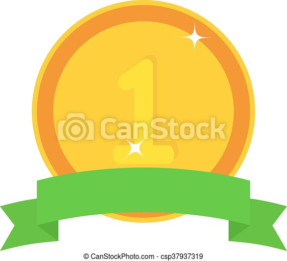 Medal first place vector illustration