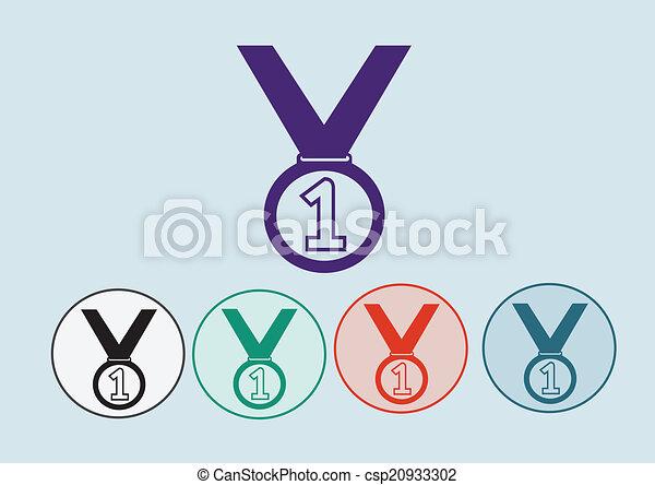 Medal icons set - csp20933302