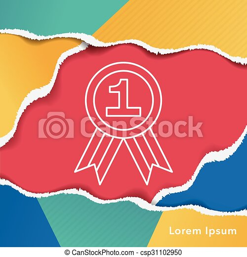 medal line icon - csp31102950