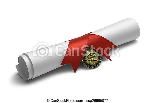 medal, woluta, dyplom - csp26665077