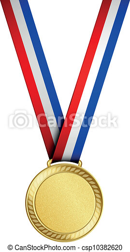 medalha, ouro - csp10382620
