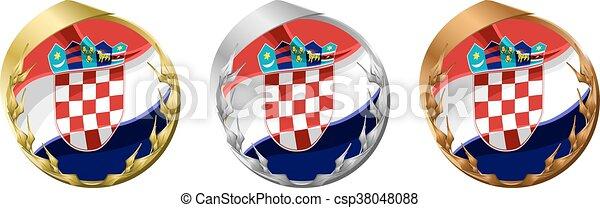 Medals Croatia - csp38048088