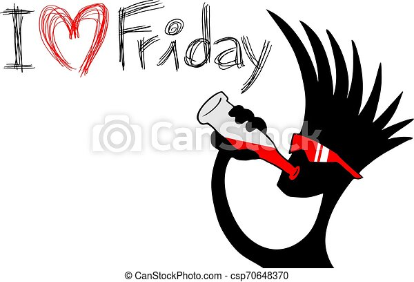 meddelande, fredag, kärlek, kylig - csp70648370
