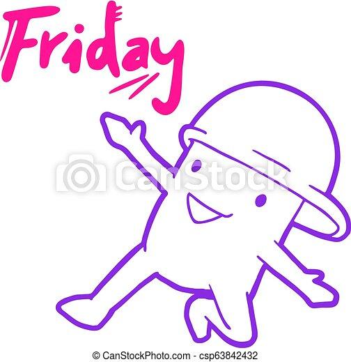 meddelande, fredag, lycklig - csp63842432